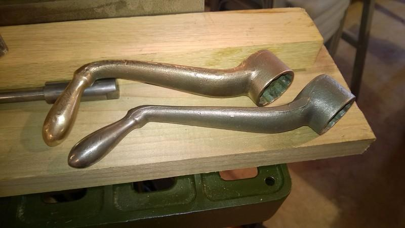 Copper and Iron Handle